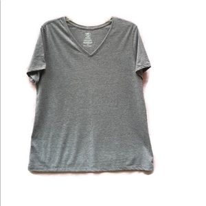 Athletic Works Gray V-Neck Top, 2X